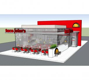 Taco Johns exterior seating
